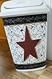 Primitive Country Decor Crackled Large Swing Top Kitchen Trash Waste Can Made in USA