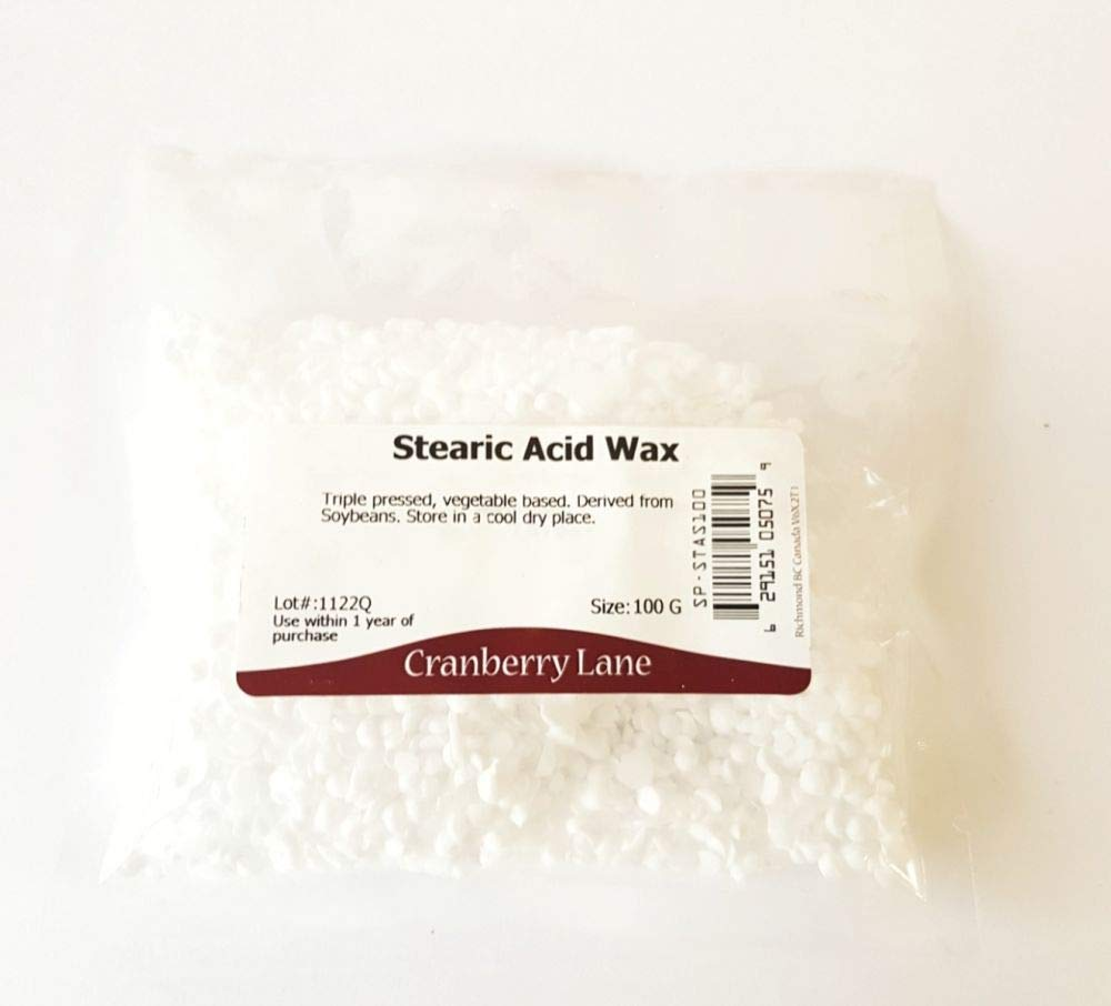 Stearic Acid Wax - 100g Cranberry Lane