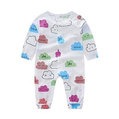 a144c8d73c2c KLXJ Baby Rompers Boys Girls Cartoon Cloud Print Cotton Bodysuit ...