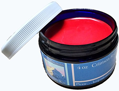 NEW LOOK - Chalk Mountain Supply Co - 100 All Natural Furniture Finishing Waxes 4oz Red Crimson