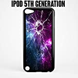 iPod Case Cracked Screen Prank for Apple iPod 5/5G Plastic Black (Ships from CA)