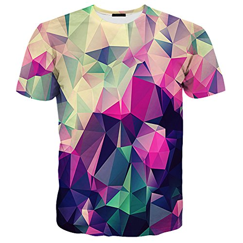 Hgvoetty Unisex Summer Casual T Shirt 3D Printed Graphic Couple Tees Short Sleeve (Funny Printed T-shirts)