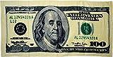 "BIG Money $100 Hundred Dollar Bill 30""x60"" Cotton Beach Towel"