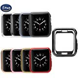 Compatible Apple Watch Cover 38mm [8 Pack], MAIRUI Bumper Case Protector Ultra-Slim Lightweight Protective Guard for Apple Watch Series 3/2/1, iWatch Sport, Edition, Nike+