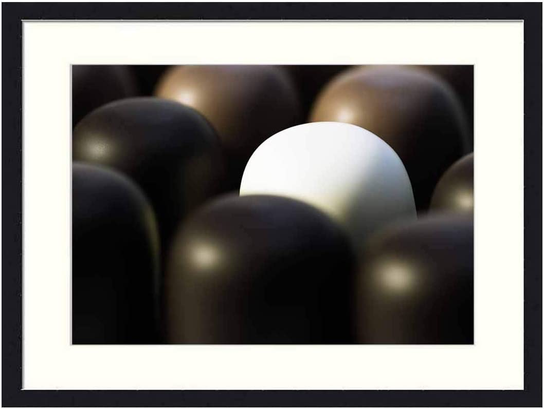 OiArt Wall Art Print Wood Framed Home Decor Picture Artwork(24x16 inch) - Chocolate Marshmallow SMore Mohrenkopf