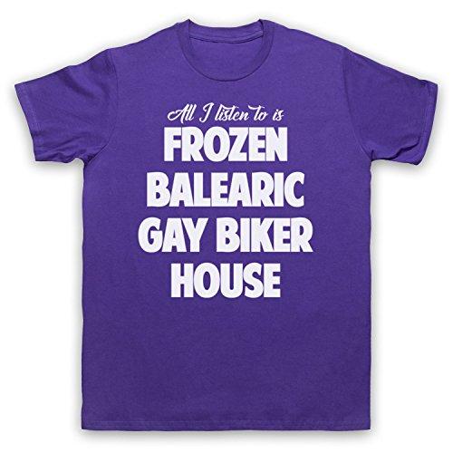 Frozen Balearic Gay Biker House Niche Dance Music Herren T-Shirt:  Amazon.de: Bekleidung