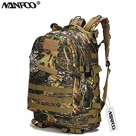 cd71fc799f Image Unavailable. Image not available for. Color  NANFOO 40L Molle 3D  Tactical Outdoor Military Rucksack Backpack Hunting Maple Leaf Camo Bag ...