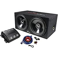 Audiopipe Super Bass Combo pack Dual 12 Loaded Box Amp Amp Kit