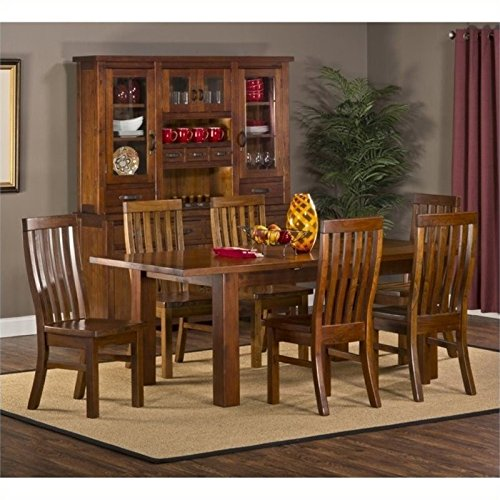 Bowery Hill 7 Piece Dining Set in Distressed Chestnut