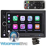 Power Acoustik CP-650 In-Dash 2-DIN Digital Media Car Stereo Receiver with Apple Carplay, Bluetooth Connectivity and USB Playback