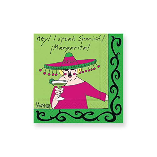 Design Design I Speak Spanish Cocktail Napkins, Multicolor by Design Design