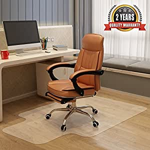 Becozier Chair Mat,Great Vinyl Hard Floor Mat With Smooth Surface And Clear  Body,