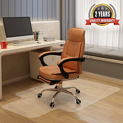 """Becozier Chair Mat,Great Vinyl Hard Floor Mat With Smooth Surface And Clear Body,Perfect Odorless&BPA free Protector For Hard Floor in Home or Office,36""""×48"""""""