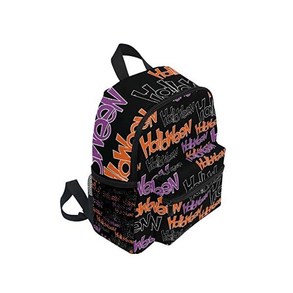 Halloween Black Letter Kid Zaino Scuola Borsa Bookbag Bambini Viaggio Daypack Ragazza Ragazzo 3-8 Anni Bambino… 2 spesavip
