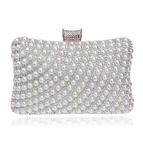Forfait Dames Du Main couleur Pearl Banquet Silver Soir Femmes Mode De À Des La Black Et Soirée Sac Fly wOBCqwI