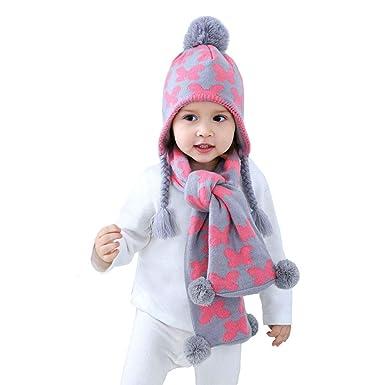 Uniyoung - Ensemble bonnet, écharpe et gants - Fille  Amazon.fr ... 60983160d9f