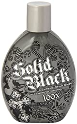 Millenium Tanning New Solid Black Bronzer Tanning Bed Lotion, 100x 13.5 Oz (Pack of 2)