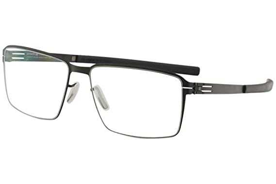 3ae5b134f6e Amazon.com  Ic! Berlin Men s Eyeglasses Jens K. Black Full Rim Flex ...