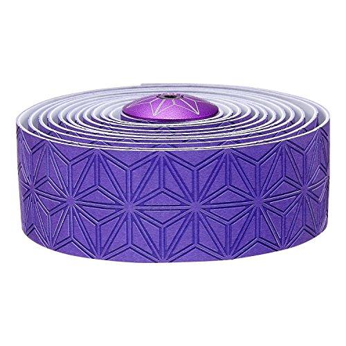 Supacaz Super Sticky Kush Single Color Handlebar Tape, Neon Purple