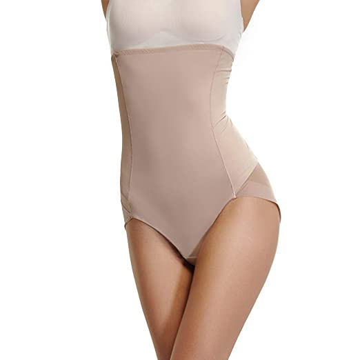 3a875be3d67 High Waist Brief Shapewear for Women Tummy Control Panties Slim Waist  Trainer Body Shaper Beige