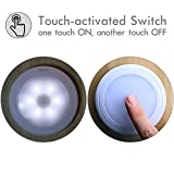 Sycees Touch Activated LED Puck Lights, Dimmable, Battery Operated, Stick on Anywhere, Daylight (5000K), 3-Pack