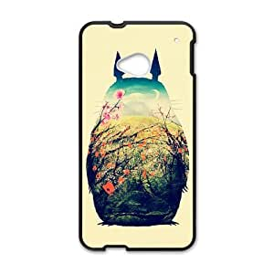 Hand Painted Animal Cartoon Series Totoro Color Design Popular Coral Custom Luxury Cover Case For HTC One M8 with Best Plastic ALL MY DREAMS