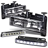 92 chevy 1500 hid headlights - Chevy/GMC C/K-Series GMT400 Black Housing Headlight+DRL 8 LED Fog Light