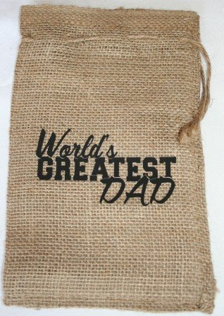 World's Greatest Dad Chocolate Gift Bag (Chocolate Covered Caramels - Dark)
