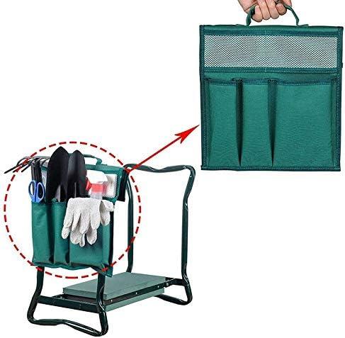 Alextry Garden Kneeler Tool Oxford Bags 12.2x11.8 Inch with Handle for Kneeling Chair Garden Tool Bag