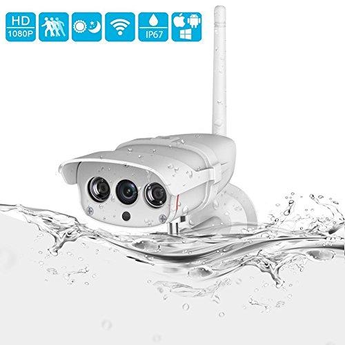 1080P//720P WLAN IP Kamera Außen HD Überwachungskamera Outdoor Wasserdicht Webcam