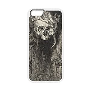 snake creepy skull crown scary pattern iPhone 6 Case White by icecream design