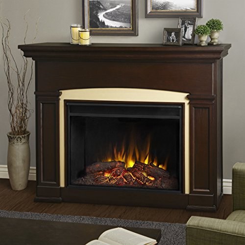 Real Flame 7660E-DW Holbrook Grand Electric Fireplace,Dark Walnut,Large