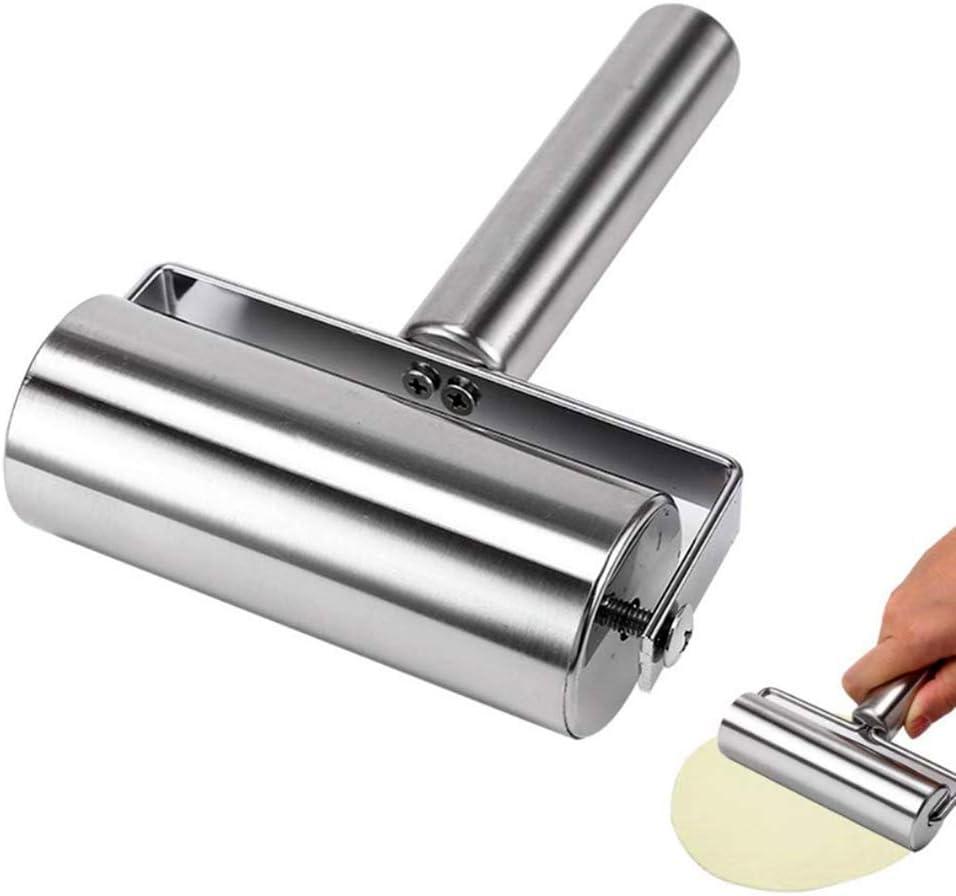 Pasta und Keksherstellung Werkzeuge Kuchen Geb/äck PowerBH K/üche Haushalt Edelstahl Nudelholz DIY Backenwerkzeuge Pizza