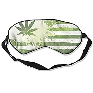 Weed Flag Sleep Eye Mask 100% Mulberry Silk Blindfold Travel Sleep Cover Eyewear