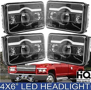 chevy c5500 headlamp wiring amazon com 4x6 rectangular sealed beam led headlights amber for  amazon com 4x6 rectangular sealed beam