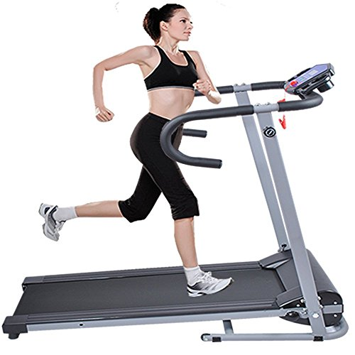 Goplus 500W Folding Electric Treadmill Portable Motorized Running Machine Black