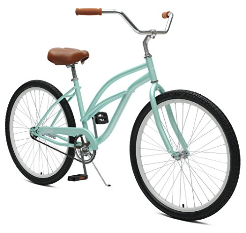 Critical Cycles Chatham Beach Cruiser Women's 26″ Single-Speed, Seafoam Top Deals