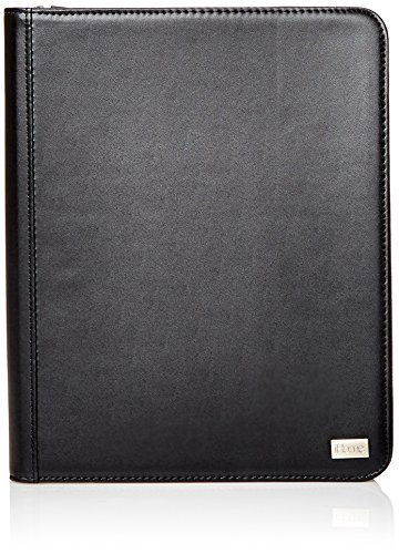 - iHome Executive-Zippered Folio Case for iPad 2/3/4 - Retail Packaging - Black/Black