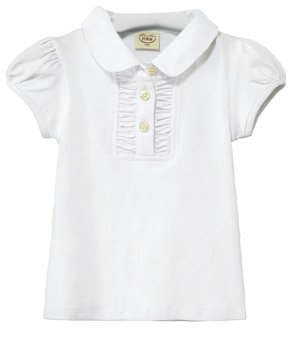 EOZY-Polo T-Shirt Bimba Bambina Cotone Maglietta a Manica Corta Cotone Misti