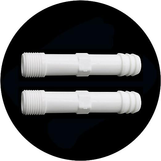 adhere to Fly 10 unidades Plástico rosca exterior PVC Tubo Conector Grifos de riego Jardín accesorios, 1/2 Gewinde: Amazon.es: Jardín