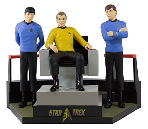 Hallmark 2016 Christmas Ornament STAR TREKTM 50th Anniversary To Boldly Go Tabletop Decoration With Light and Sound