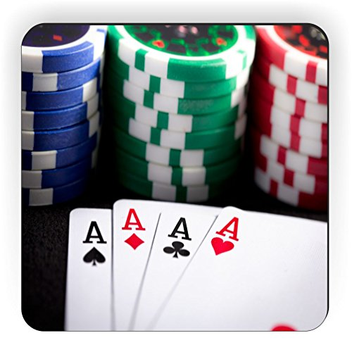 (Rikki Knight Playing Cards and Poker Chips Design Square Fridge Magnet)