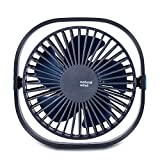 Euph Mini USB Desk Fan, Portable Personal Small Silent Desk Fan with 3 Speeds for Office Travel Outdoor-Blue