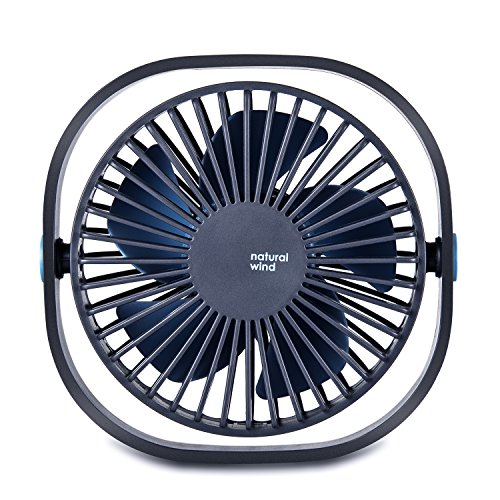 Euph Mini USB Desk Fan, Portable Personal Small Silent Desk Fan with 3 Speeds for Office Travel Outdoor-Blue by Euph