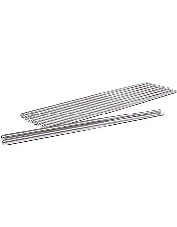 10 pares palillos de acero inoxidable