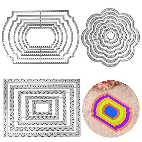 3 PCS Cutting Dies Metal Embossing Stencil Tools, FineGood Die Cutters for Card Making DIY Craft Dies for Die Cutting Scrapbook Album Decoration