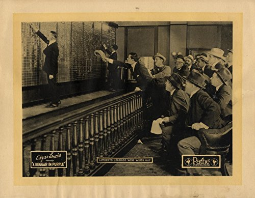 Imagery Stock (BEGGAR IN PURPLE, A (1920) Lobby card depicting early stock exchange imagery)