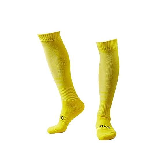 SNOW Calcetines hasta la rodilla - para hombre Amarillo amarillo Talla única: Amazon.es: Ropa y accesorios