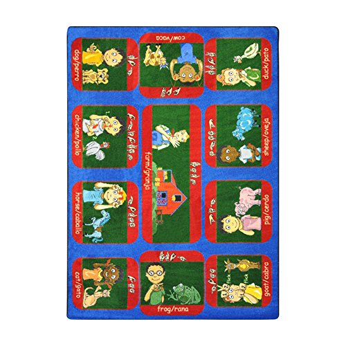 Joy Carpets Kid Essentials Music & Special Needs Signs On The Farm Rug, Multicolored, 7'8