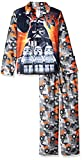 LEGO Star Wars Boys' Little Coat Pajama Set, Button Front Top, with Pant, Grey, 6/7